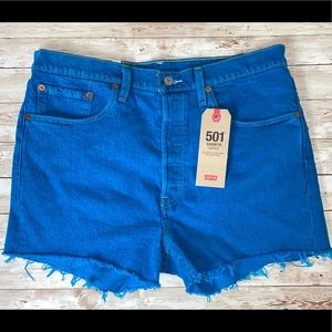 Levi's 501 Button Fly Frayed Jean Shorts
